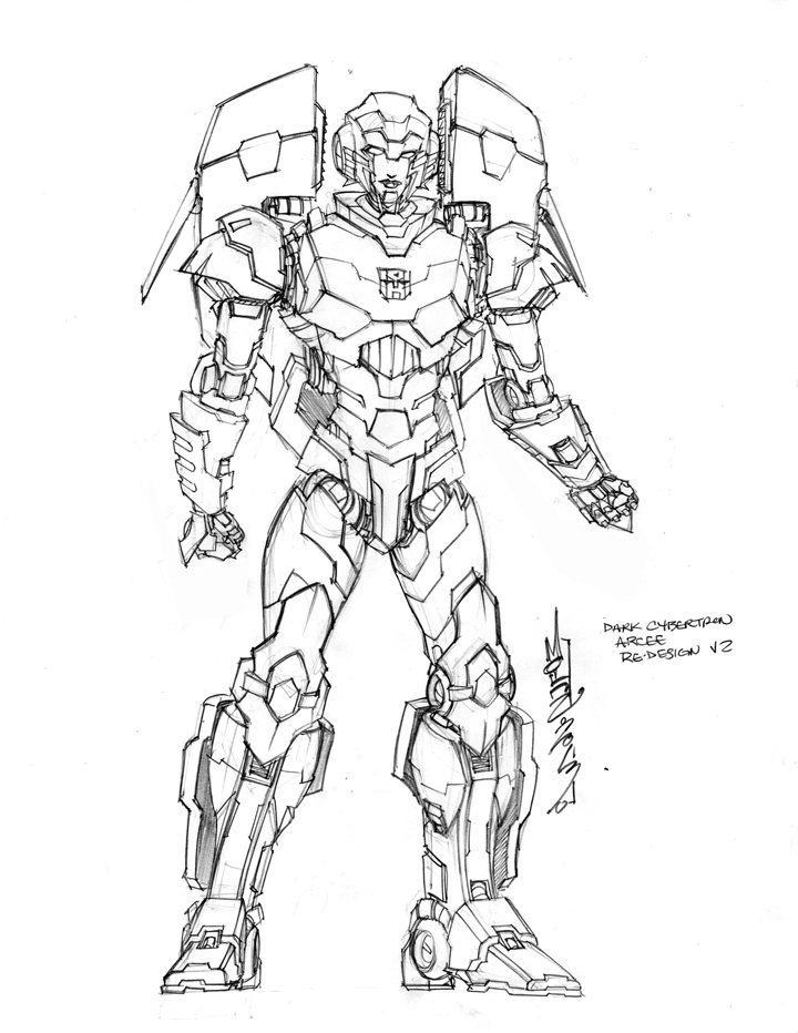 IDW Dark Cybertron Arcee Design
