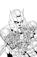 TF MTMTE 40 cover lineart by markerguru