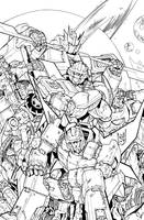 TF MTMTE 45 cover lineart by markerguru