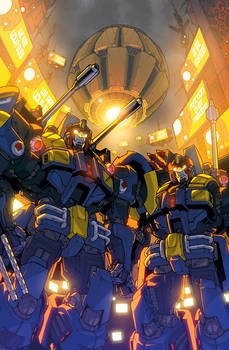 Transformers Lost Light issue 5 Sub cover colours