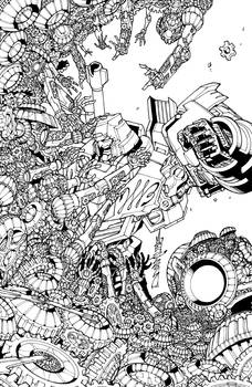 Transformers Lost Light issue 6 Sub cover lineart