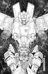 Transformers Lost Light issue 8 Sub cover lineart