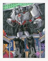 Teacher Megatron Commission by markerguru