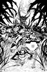 ROM vs Transformers issue 3 cover by markerguru