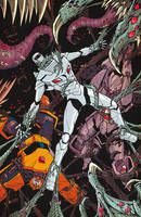 ROM vs Transformers issue 4 cover colors by markerguru