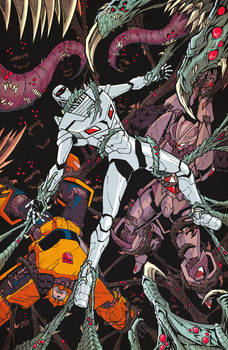 ROM vs Transformers issue 4 cover colors