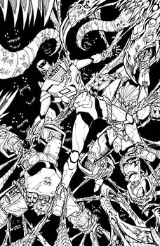 ROM vs Transformers issue 4 cover