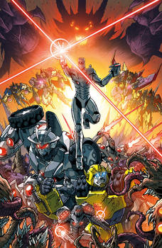 ROM vs Transformers issue 5 cover colors