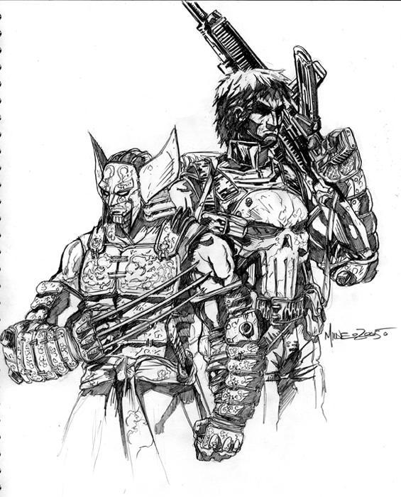 Wolverine_Punisher by markerguru