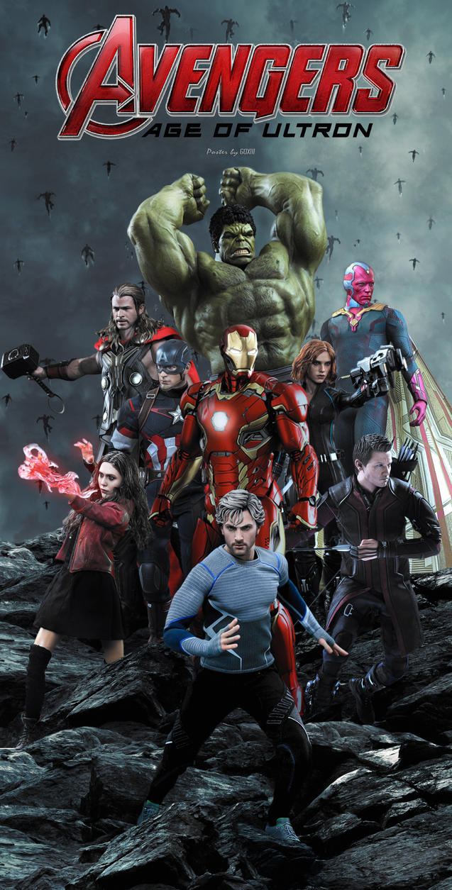 Avengers Age Of Ultron By Iloegbunam On Deviantart: Avengers Age Of Ultron Poster By GOXIII On