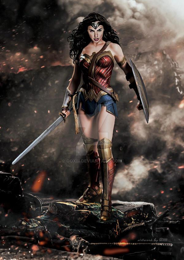 Batman V Superman Dawn Of Justice Wonder Woman By GOXIII