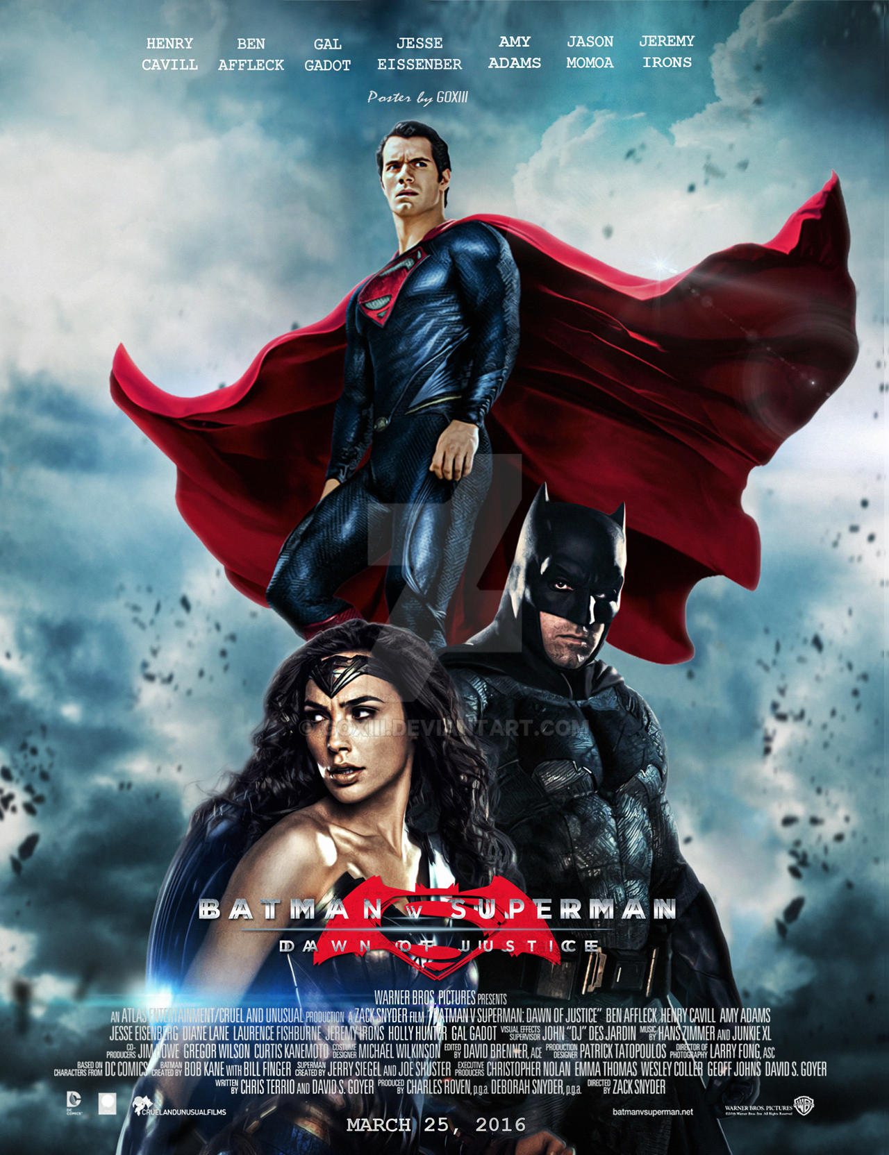 Batman v Superman : Dawn of Justice Poster by GOXIII on ...