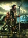 Justice League / Aquaman  and Queen Mera Poster