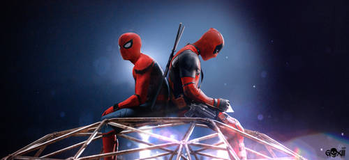 Spidey and DeadPool by GOXIII