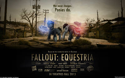 Fallout Equestria Movie Poster Concept (Wallpaper) by OliveBranchMLP