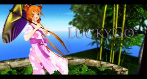 MMD LuckyGO Kimono style DL by LizzyVolti