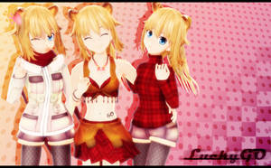 MMD LuckyGO 13 years old DL by LizzyVolti