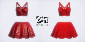 FIND YOUR SOUL dress Sunny - MMD DL -