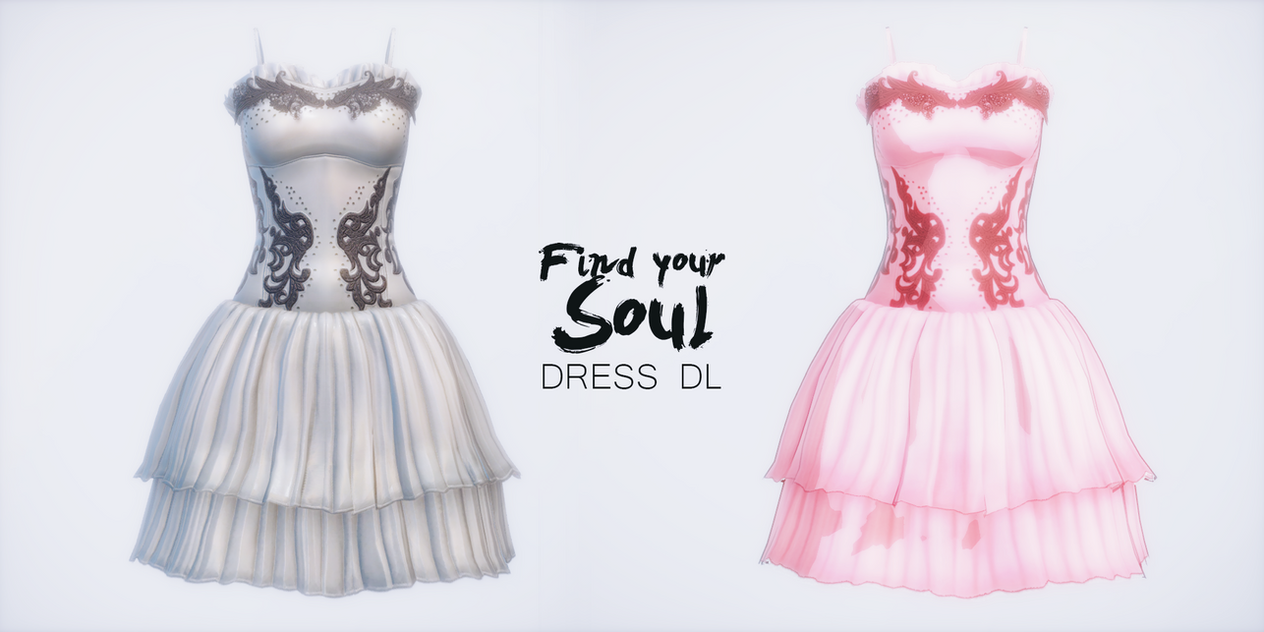 FIND YOUR SOUL dress Sica and Fany - MMD DL - by