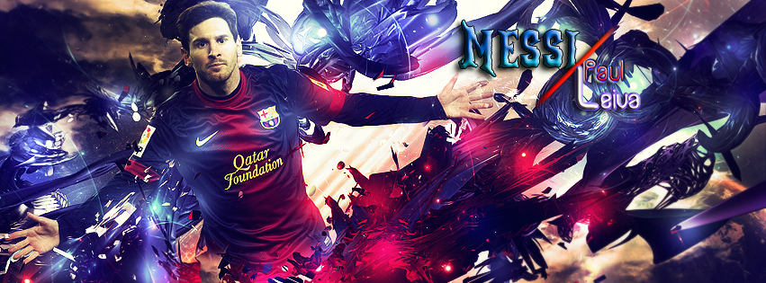 FC Barcelona Lionel Messi Facebook Cover by TechnoEnergy279