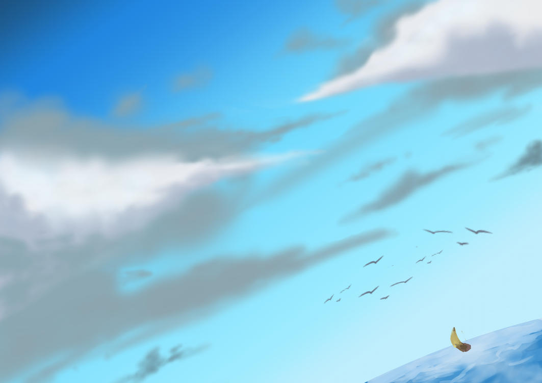 Sea and Clouds [Speed paint #1] by Glitched-Ryu