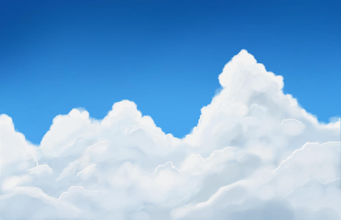 Clouds Study [Speedpaint #2] by Glitched-Ryu