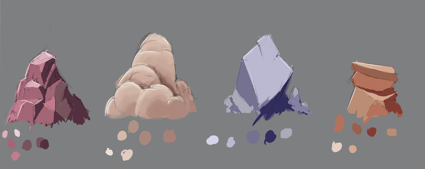 Rock study by Glitched-Ryu