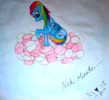 Rainbow Dash investigates cloud of...NOM by PinkieSparrowPie