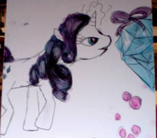 Rarity and Sapphire by PinkieSparrowPie