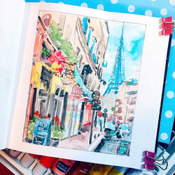 Street in Paris by lycheearts
