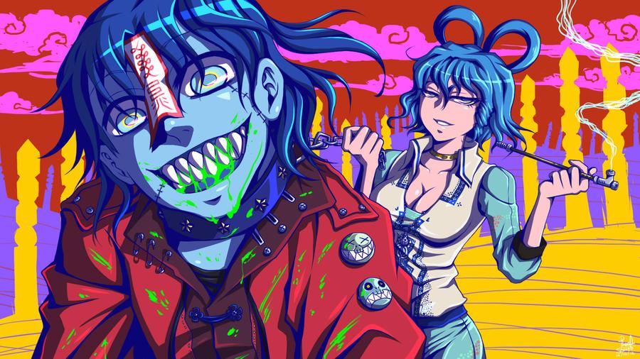 Yoshika and Seiga by Reef1600