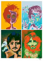 Psychedelic Beatles by LArtisteInconnu