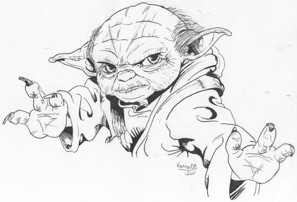 Line Art Yoda : Yoda line drawing related keywords suggestions