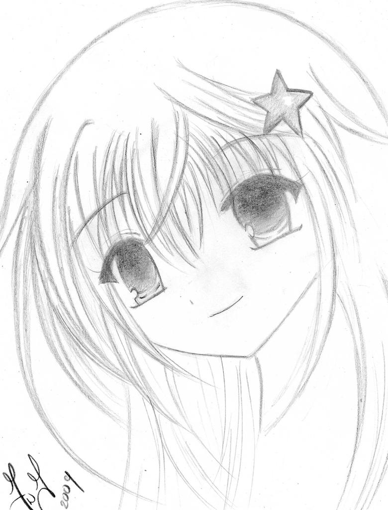 Cute Little Girl-sketch By Shizuka-dono On DeviantArt