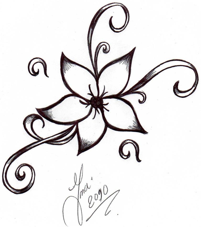 Flower Tattoo By Shizuka-dono On DeviantArt