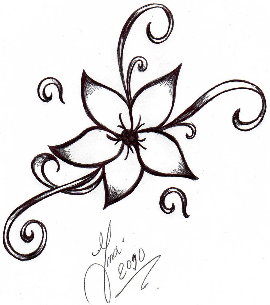 Flowers Images Drawings Cool Drawing Flower Tattoo