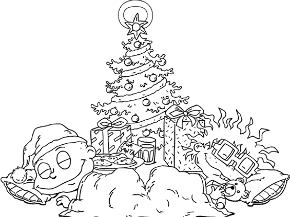 rugrats coloring page babies under the tree by chipmunkcartoon on