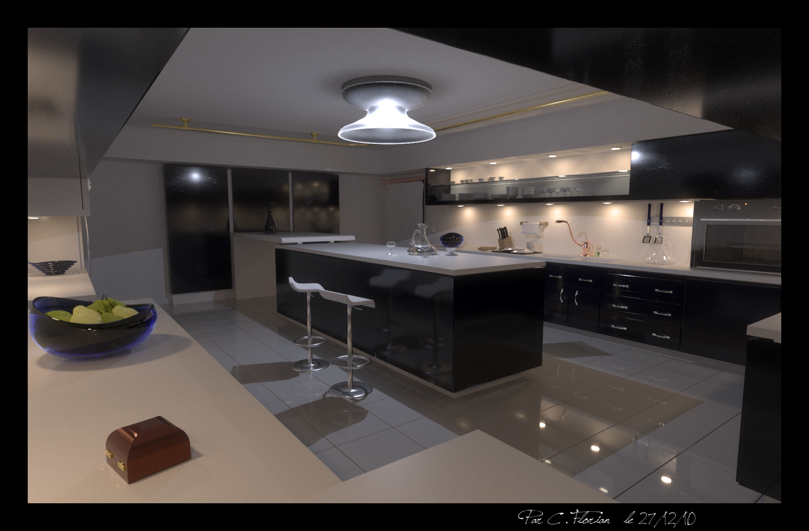 a large modern kitchen by xirys on deviantart