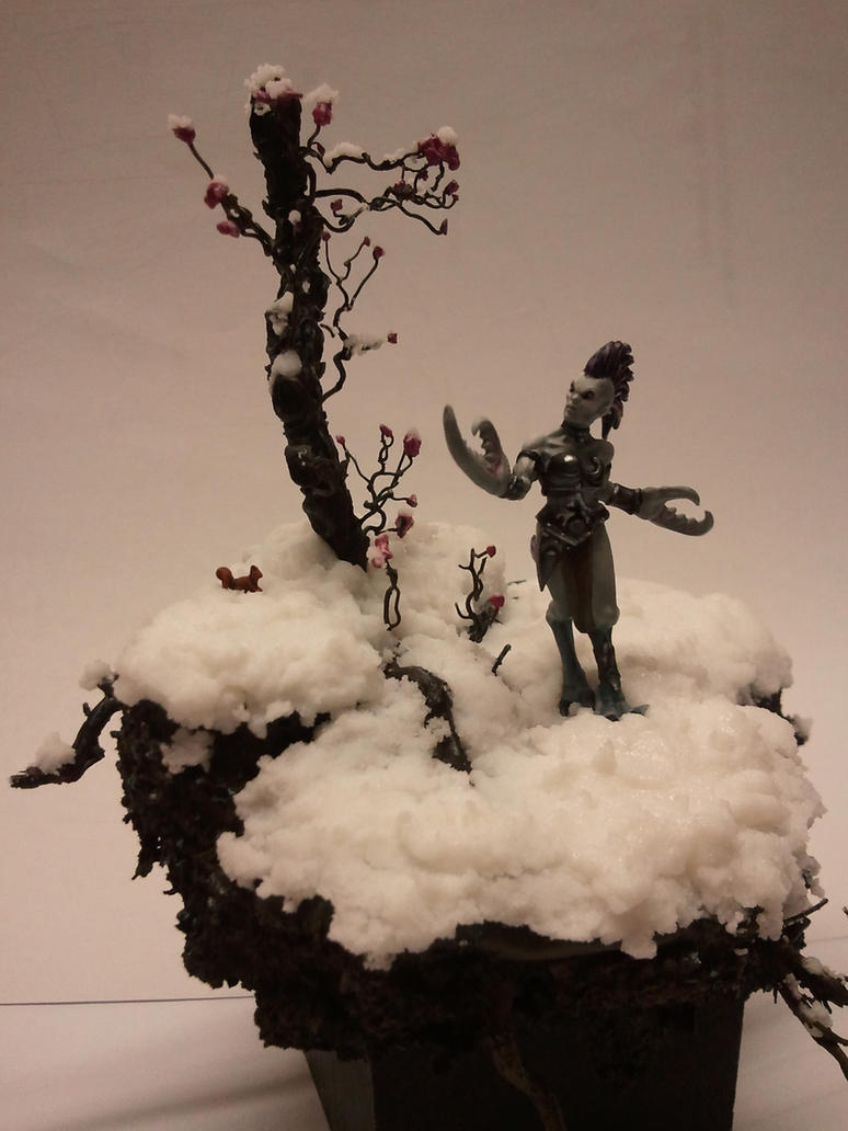 Small Daemonette diorama by skincoffin