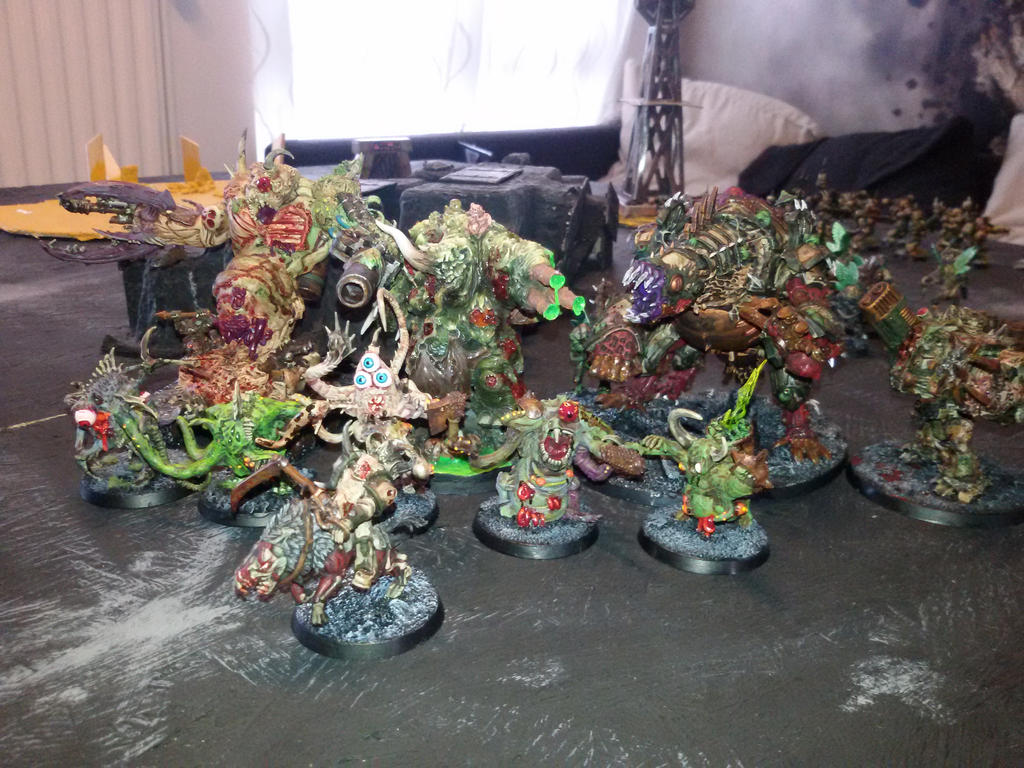Chaos Nurgle warhost by skincoffin