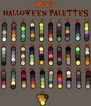 Halloween palettes