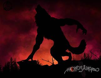 Werewolf Silhouette by Dalkur