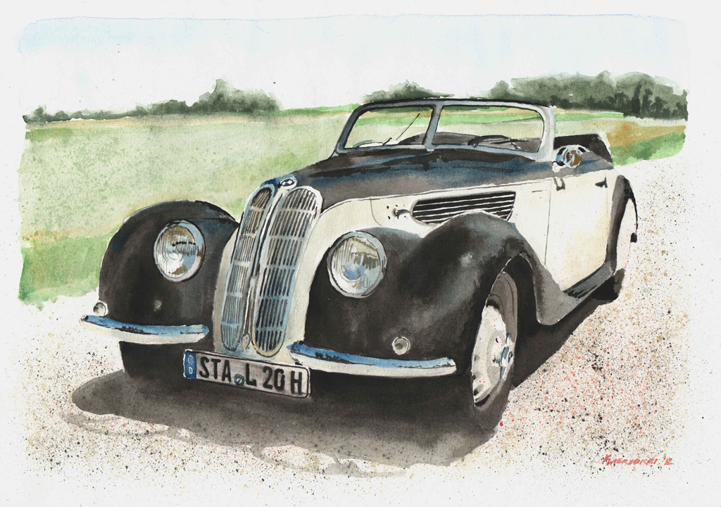 1939 BMW 327 Cabriolet by kw-logo on DeviantArt