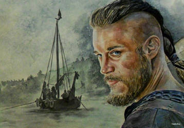 Vikings. Ragnar Lothbrok by Nastyfoxy