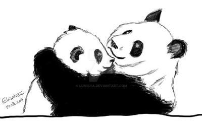 Panda's Embrace by Lumisya
