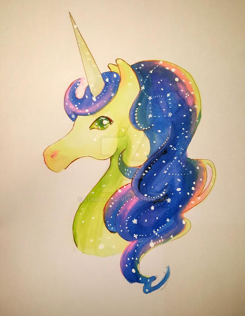 Galaxy Unicorn by Lumisya