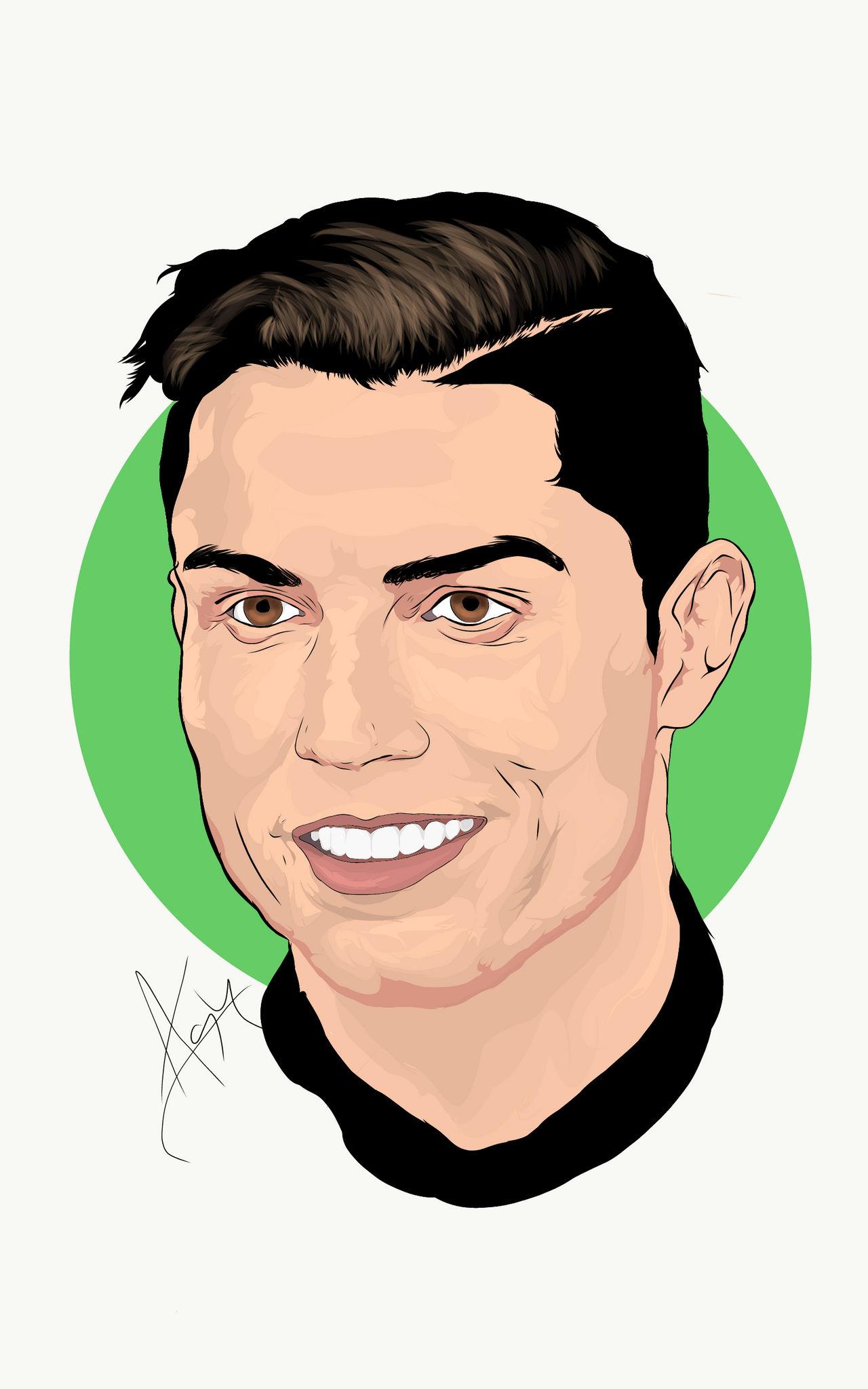 Cristiano Ronaldo Illustration By Ashrafulrayan On Deviantart