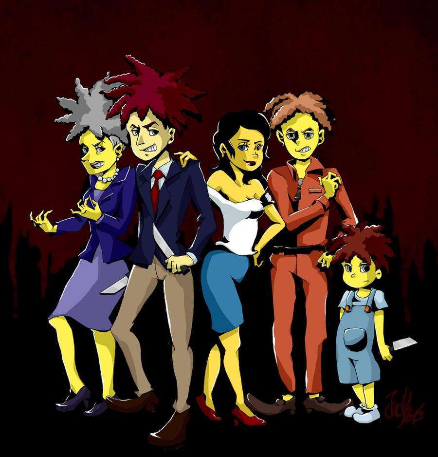 Sideshow bob 's family by judidots
