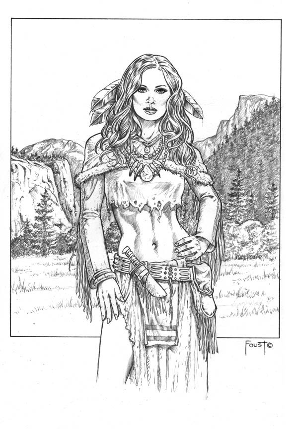 Medicine woman by mitchfoust on deviantart for Girl indian coloring pages