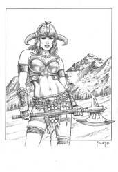 Vysarane, Barbarian Warrior